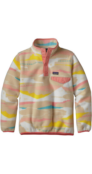 Patagonia Girls LW Synch Snap-T Pullover Desertscape/Light Sesame